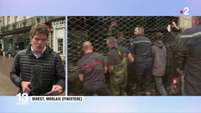 Intempéries : lendemain d'orage difficile à Morlaix