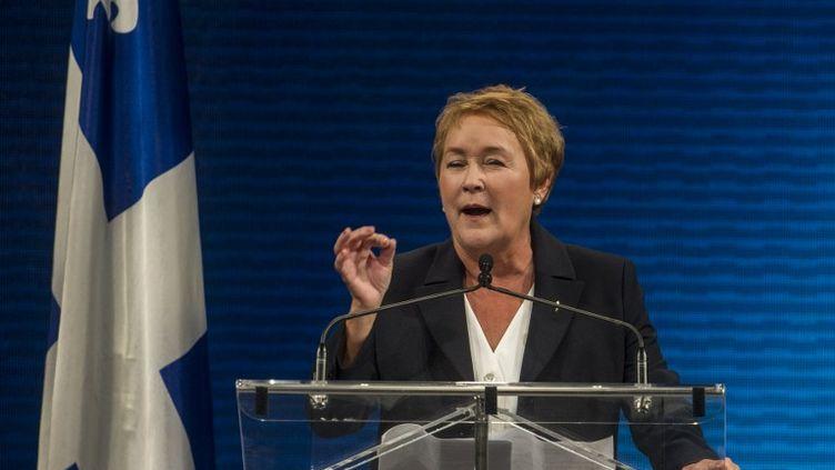 Pauline Marois, la nouvelle Première ministre du Québec, lors de son discours à Montréal, le 4 septembre 2012. (ROGERIO BARBOSA / AFP)