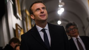 En déplacement en Corse, le président de la République, Emmanuel Macron, visite le musée Fesch à Ajaccio, le 6 février 2018.  (CHRISTOPHE PETIT-TESSON/POOL)