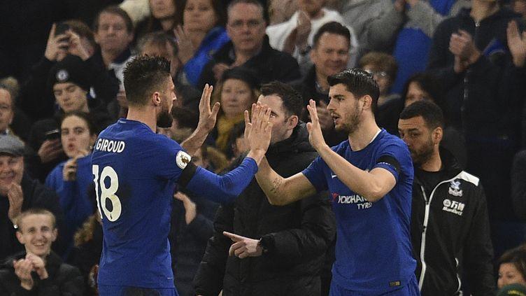 A Chelsea, Alvaro Morata remplace Olivier Giroud (GLYN KIRK / AFP)