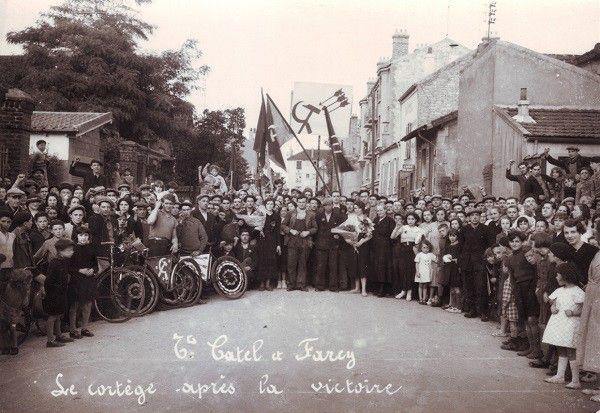 Etablissement Catel de Farcy, le cortège de la victoire  ( coll. RADAr)