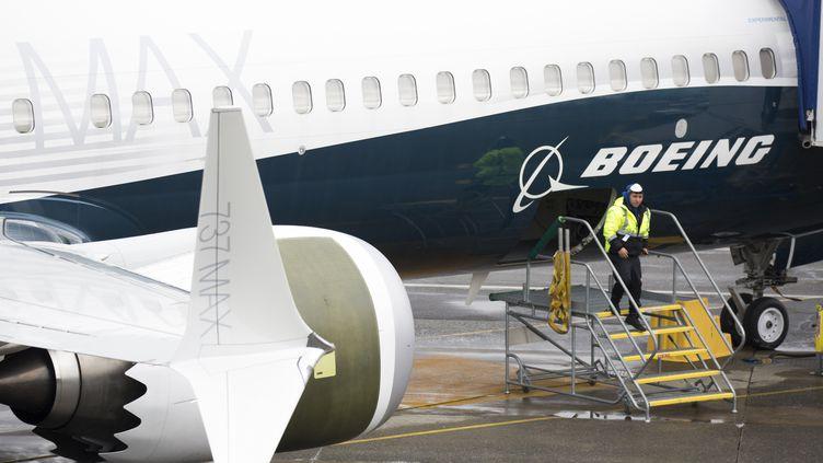 Un Boeing 737 Max photographié à Renton (Etats-Unis), le 12 mars 2019 (JASON REDMOND / AFP)