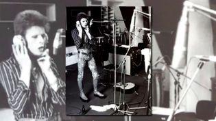 """L'enregistrement de l'album """"Low"""" au château d'Hérouville en 1977.  (Copie d'écran France 3 Paris-Ile-de-France)"""