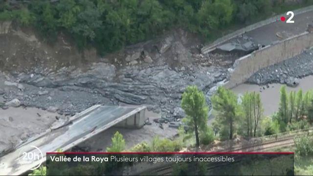 Tempête Alex : des villages de la vallée de la Roya sont toujours coupés du monde