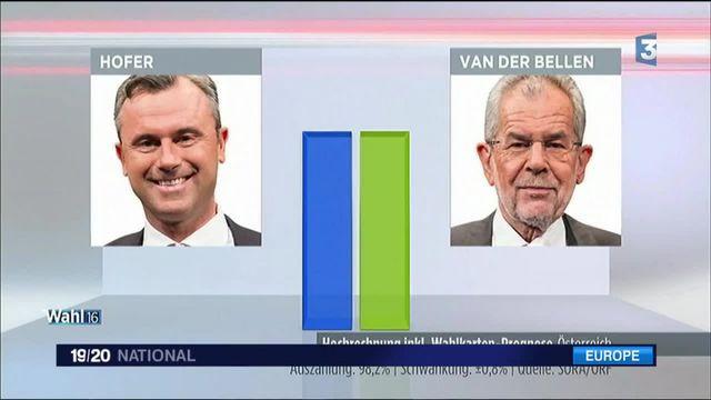 Autriche : les deux candidats à la présidence au coude-à-coude