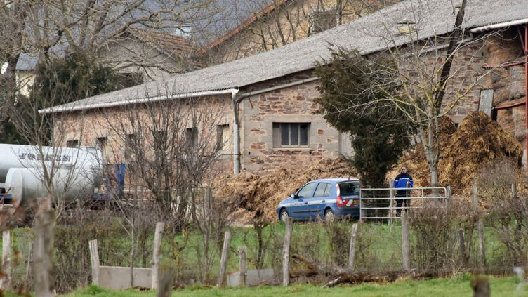 L'exploitation agricole où une technicienne a été tuée à Mayran (Aveyron), le 17 février 2016. (JOSE A. TORRES / AFP)