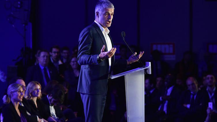 Laurent Wauquiez, président de la région Auverge-Rhône-Alpes et candidat à la présidence du parti Les Républicains. (CHRISTOPHE ARCHAMBAULT / AFP)