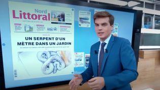 Comme chaque jour, le journal de13hfait un point sur les grands titres de l'actualité de régions.Une revue de presse signée Sébastien Thomas. (France 2)