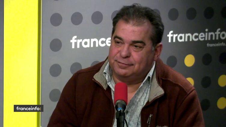 Philippe Colombani, président fondateur de l'Union Nationale des Indépendants de la Conduite, le 10 février sur franceinfo. (FRANCEINFO)