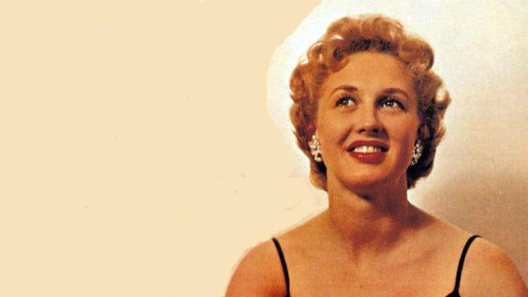"""Détail de la pochette du disque """"Bonnie Lou sings !"""" sorti en 1958  (label King)"""