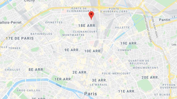 Paris (18e), rue Championnet et rue des Poissonniers. (GOOGLE MAPS)