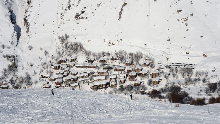 Le village de Bonneval-sur-Arc, enHaute-Maurienne (Savoie), le 26 février 2013. (MOUILLAUD RICHARD / MAXPPP)