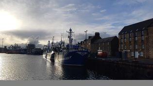 Le port de Peterhead, au nord-est de l'Ecosse (Royaume-Uni) le 31 décembre 2020 (MARIE-PIERRE VEROT / RADIO FRANCE)