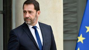 Christophe Castaner, secrétaire d'Etat chargé des relations avec le Parlement, quitte l'Elysée, le 25 octobre 2017. (JULIEN MATTIA / NURPHOTO)