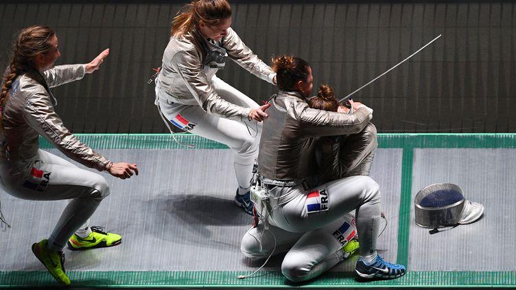 Les Françaises sont championnes du monde (JOHANNES EISELE / AFP)