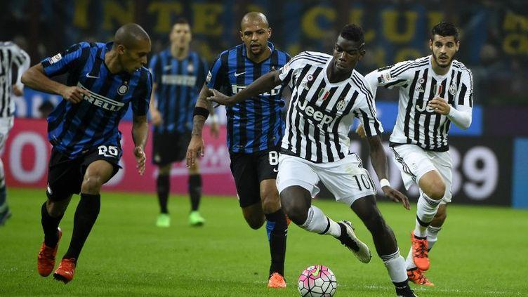 La Juventus de Paul Pogba (au centre) a tenu en échec l'Inter Milan à San Siro. (OLIVIER MORIN / AFP)