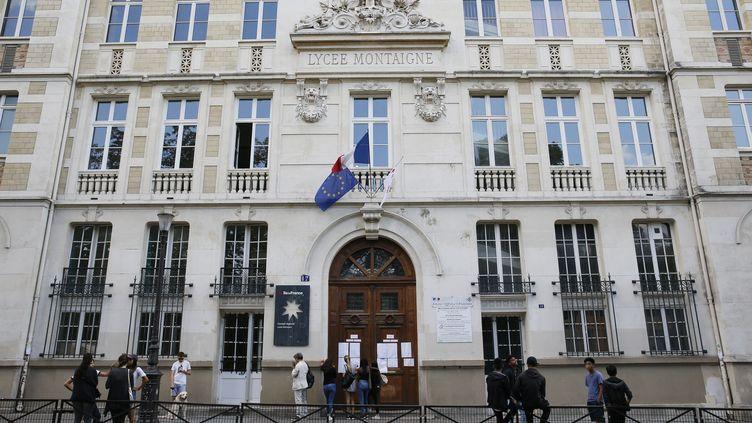Le jour de la rentrée des professeurs au lycée-collège Montaigne, dans le 6e arrondissement de Paris, le 31 août 2016. (MATTHIEU ALEXANDRE / AFP)