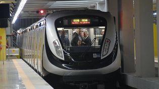 (La nouvelle ligne de métro ignaugurée à Rio avant les JO © VANDERLEI ALMEIDA / AFP)