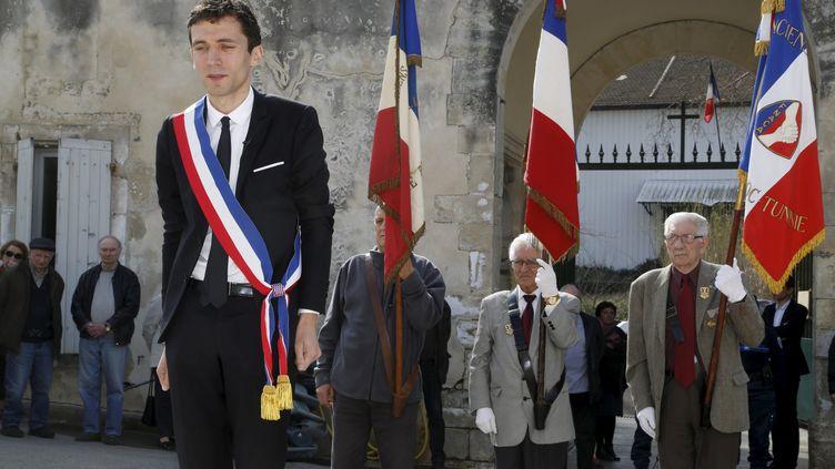 Le maire FN de Beaucaire (Gard) Julien Sanchez, le 18 mars 2015. (MAXPPP)