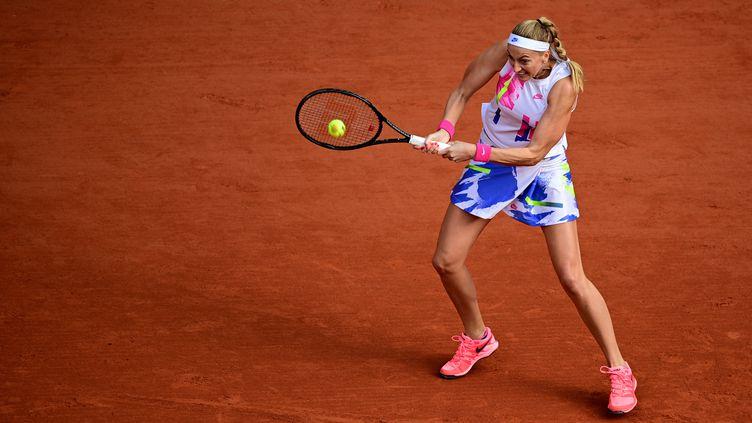 La Tchèque et tête de série numéro 7 Petra Kvitova. (MARTIN BUREAU / AFP)