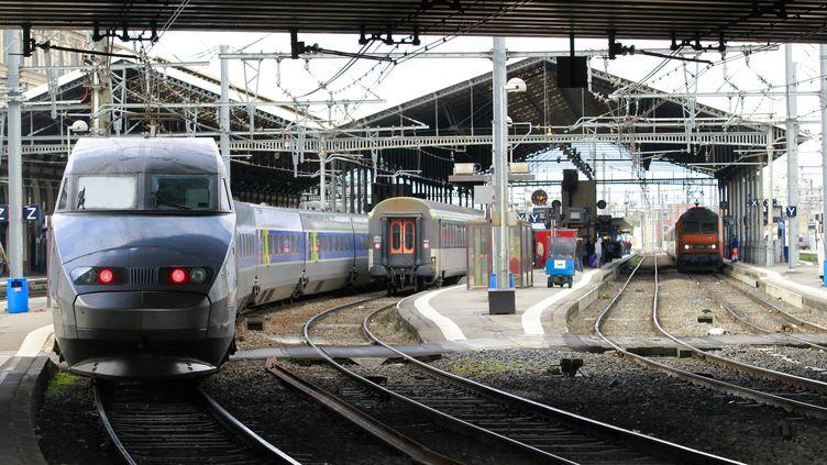 """Les TGV low cost de la SNCF pourraient débarquer aux côtés des TGV """"classiques"""",en avril 2013, assure la radio RTL le 13 novembre 2012. (FRED SCHEIBER / 20 MINUTES / SIPA)"""