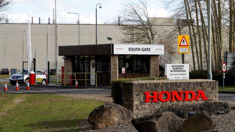 L'entrée de l'usine de fabrication Honda à Swindon, dans le sud-ouest de l'Angleterre, le 19 février 2019. (ADRIAN DENNIS / AFP)