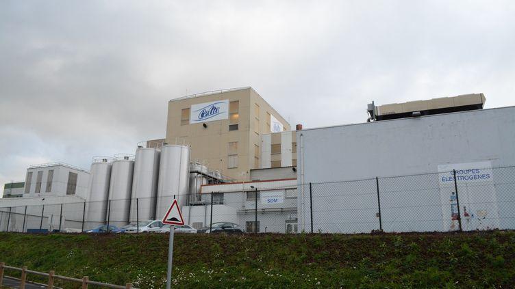 L'usine Lactalis de Craon (Mayenne), le 11 janvier 2017. (RONAN HOUSSIN / CROWDSPARK/ AFP)