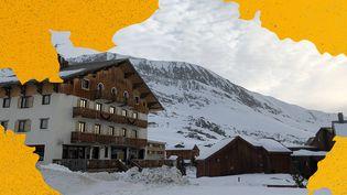 La commune de l'Alpe d'Huez (Isère), le 23 janvier 2020. (RAPHAEL GODET / AWA SANE / FRANCEINFO)