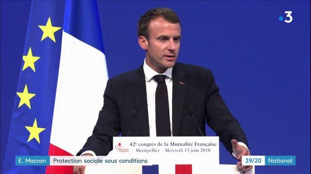Emmanuel Macron : une protection sociale sous conditions