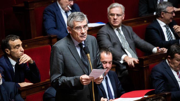"""Le député Jean-Charles Taugourdeau a dit à l'Assemblée nationale :"""" un prétendu réchauffement"""", le 3 décembre 2019. (MAXPPP)"""