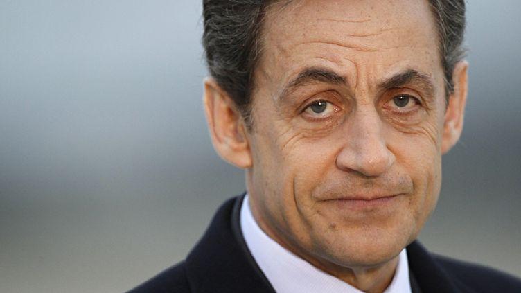 Nicolas Sarkozy, le 2 mars 2012. (THOMAS SAMSON / AFP)