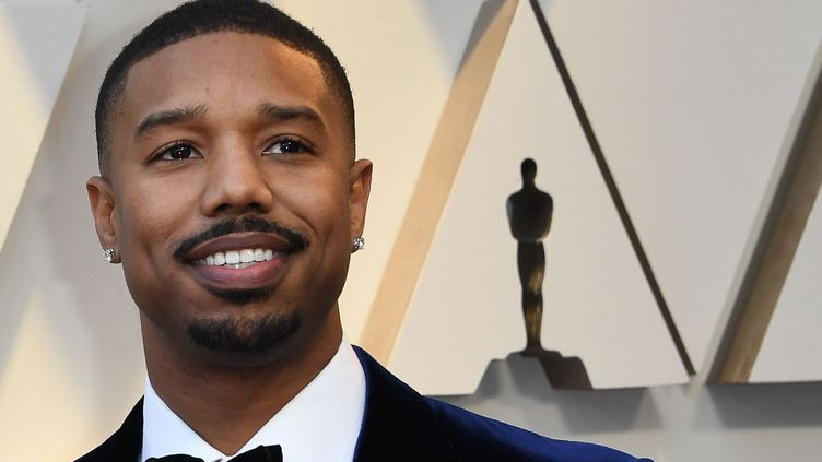 L'acteur américain Michael B.Jordan arrive à la cérémonie des Grammy Awards, le 24 février 2019 à Hollywood, Californie (USA). (MARK RALSTON / AFP)