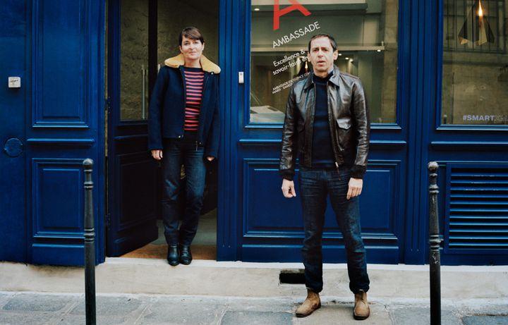 Sandrine et Vincent Bergerat, fondateurs d'Ambassade-Excellence, dans le quartier du Vertbois, en 2018 (PEOPLE OF VERTBOIS)