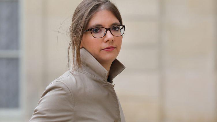 La députée LREM Aurore Bergé, le 25 novembre 2017, à l'Elysée. (LUDOVIC MARIN / AFP)