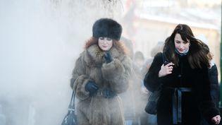 C'est de Russie que cette vague de froid nous arrive. A Moscou, ces températures ne sont pas inhabituelles. (NATALIA KOLESNIKOVA / AFP)