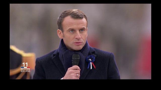 11-Novembre : retrouvez le discours intégral d'Emmanuel Macron sous l'arc de triomphe