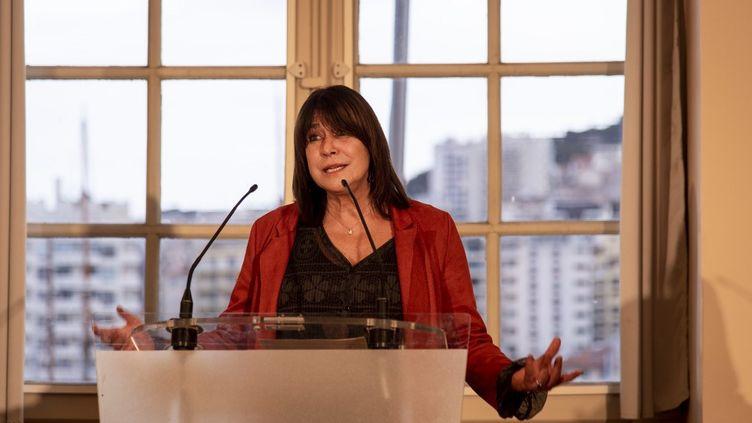 Michèle Rubirola, à Marseille, le 15 décembre 2020. (GUILLAUME ORIGONI / HANS LUCAS / AFP)