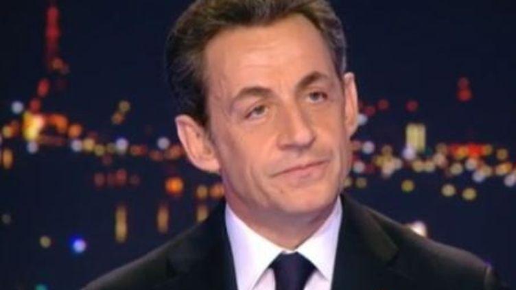 Nicolas Sarkozy le plateau du JT de TF1 - mercredi 15 février 2012 (TF1)