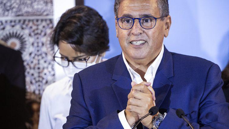 Le milliardaire Aziz Akhannouch, le 9 septembre 2021 à Rabat (Maroc). (FADEL SENNA / AFP)