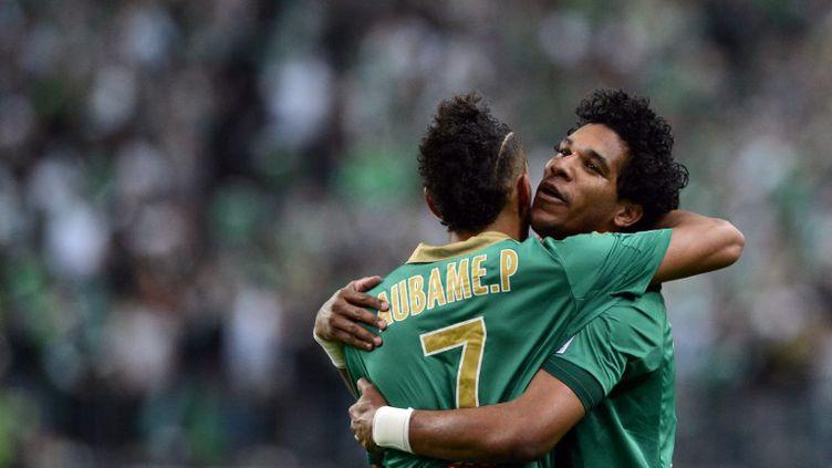 Brandao a ouvert le score face à Rennes en finale de la Coupe de la Ligue. (FRANCK FIFE / AFP)