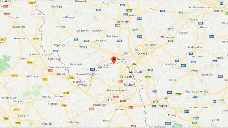 Bousbecque (Nord). (CAPTURE D'ECRAN GOOGLE MAPS)