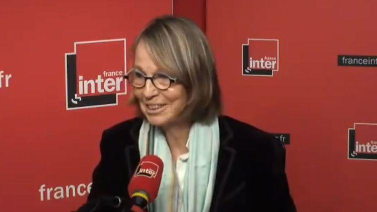 Françoise Nyssen, la ministre de la Culture, sur France Inter le 7 mars. (RADIO FRANCE)