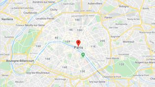 Plan de Paris. (GOOGLE MAPS)