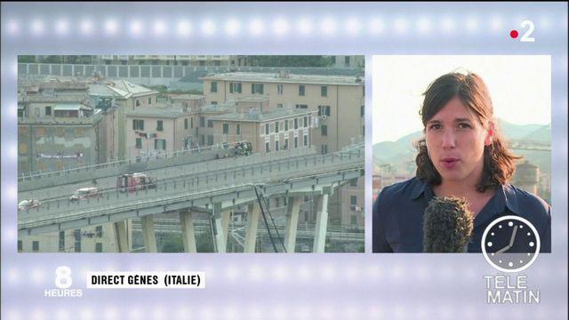 Nouvelle nuit de recherche dans les décombres du pont de Gênes
