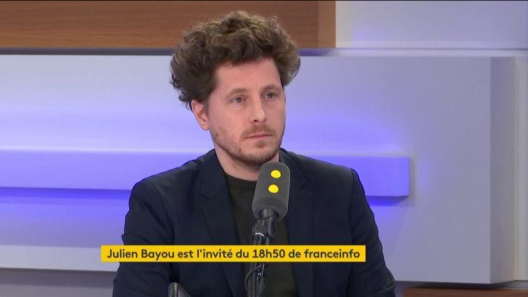 Julien Bayou, secrétaire national d'EELV était l'invité du 18H50 de franceinfo, ce vendredi 21 février. (FRANCEINFO / RADIOFRANCE)