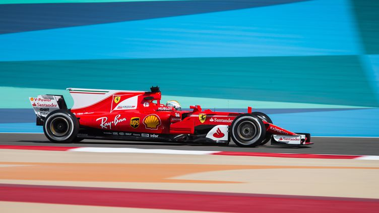 Le pilote allemand Sebastian Vettel (Ferrari) a déjà remporté à deux reprises le Grand Prix de Bahreïn en 2012 et 2013. (ANTONIN VINCENT / DPPI MEDIA)