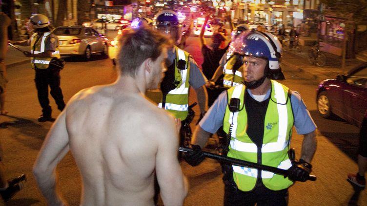 Dans la nuit de mercredi à jeudi 24 mai, à Montréal. (ANDRE TREMBLAY / AFP)