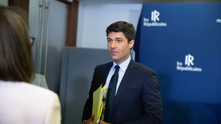 Le député Les Républicains du Lot Aurélien Pradié, le 9 juin 2020 à Paris. (CHRISTOPHE MORIN / MAXPPP)