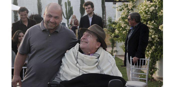 Philippe Pozzo di Borgo et Abdel Sellou à Essaouira au Maroc en novembre 2011  (BISSON/JDD/SIPA)