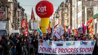 Défilé du 1er mai 2016 à Lille (Nord). (PHILIPPE HUGUEN / AFP)
